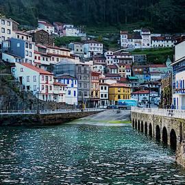 Cudillero Village by Tom Singleton