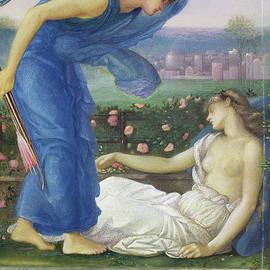 Cupid And Psyche, Circa 1865 by Edward Coley Burne-Jones