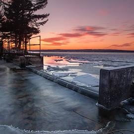 Cut River Dam in Winter by Ron Wiltse