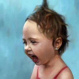 Cute And Happy Girl Child by Nesrin Gulistan