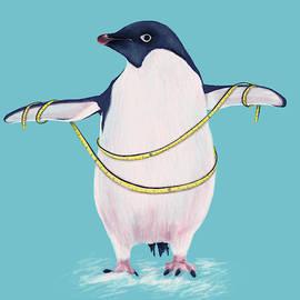 Cute Fat Penguin Goes On Diet by Boriana Giormova