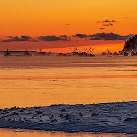 Cutler Fleet At Dawn From Backside of Little River by Marty Saccone