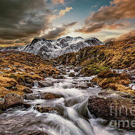 Cwm Idwal Snowdonia Sunset by Adrian Evans