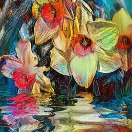 Daffodil Art by Kaye Menner