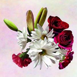 Daisies, Roses and Carnations by Susan Savad