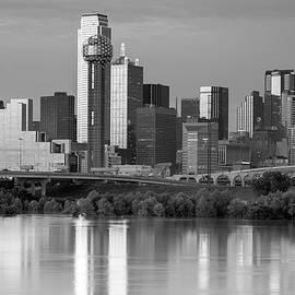 Dallas Skyline Monochrome 081219 by Rospotte Photography