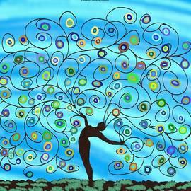 Dancing Tree in Blue by Chante Moody