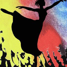 Dancing With Watercolor Ballerina Silhouette IIi by Irina Sztukowski
