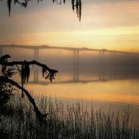 Daniel Island Light And Fog  by Donnie Whitaker