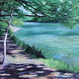 Dappled Riverbank by Sheldon Goldman