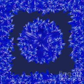Dark Blue Floral for Home Decor by Delynn Addams