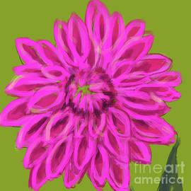 Darling Dhalia Pink Green by Go Van Kampen