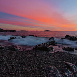 Dawn At Castle Rock On Marblehead Neck by Jeff Folger