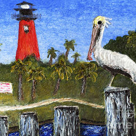 Aceo Dawn At Jupiter Inlet Lighthouse Florida 52a by Ricardos Creations