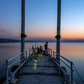 Dawn over the Sea of Galilee 4 by Dubi Roman