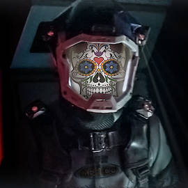 Day of the Dead Astronaut by Micah Offman