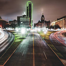 Dealey Plaza Skyline - Dallas Texas by Gregory Ballos