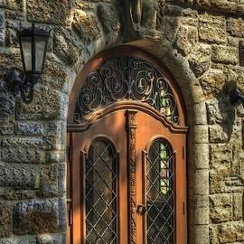 Decorative Door On Conchetti  Street. L A S  by Gert J Rheeders