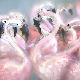 Delicate Flamingos by Donna Kennedy