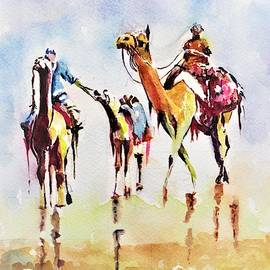 Desert flight by Khalid Saeed