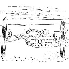 Desert Scene at Paint My Sketch Art Group by Delynn Addams