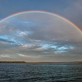 Detroit Point and Flag Point Rainbow by Ron Wiltse