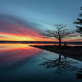 Detroit Point Mirror Reflections Sunrise by Ron Wiltse