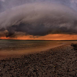 Detroit Point storm moving in by Ron Wiltse