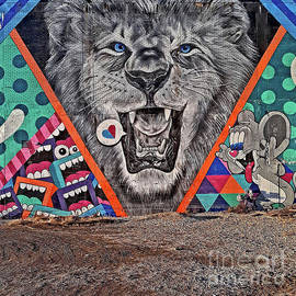 Detroit Lion Mural by Walter Neal