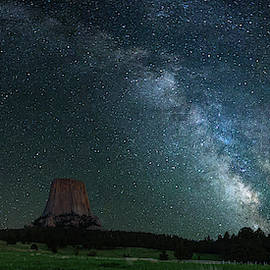 Devil's Tower At Night by Gary Lengyel