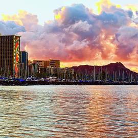 Diamond Head and Waikiki Sunrise by Marcia Colelli