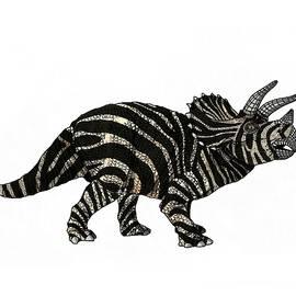 Dinosaur Zebra Triceratops by Joan Stratton