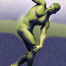 Discobolus Green by Joaquin Abella