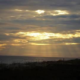 Divine Sunset At Beach by Cynthia Guinn