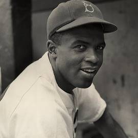 Dodgers Infielder by Hulton Archive