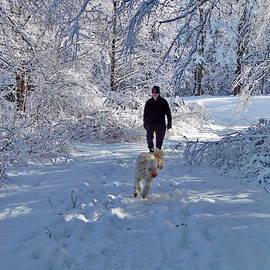Dog Walking by Lyuba Filatova