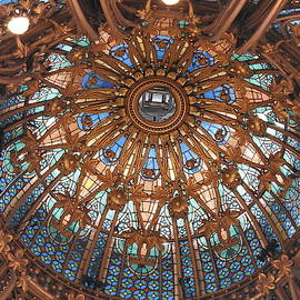 Dome of the Gallarie LaFeyette, Paris by Barbara Ebeling