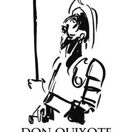 Don Quixote by BlackLineWhite Art