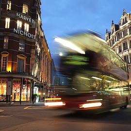 Double Decker Bus Blur by Michael Gerbino