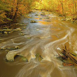 Downstream Rock Creek in DC with Fall Colors by Jeff at JSJ Photography