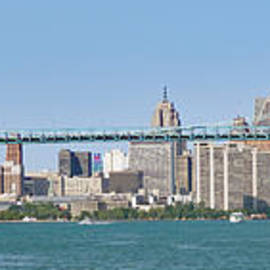 Downtown Detroit Panorama wide by Ann Horn