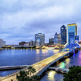 Downtown Jacksonville Blue Hour by Kay Brewer