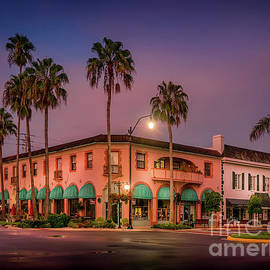 Downtown Venice, Florida at Sunrise by Liesl Walsh