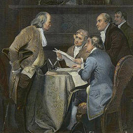 Drafting The Declaration Of Independence In 1776  by American School