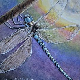 Dragonfly in the Moonlight by Artist Angie Sellars