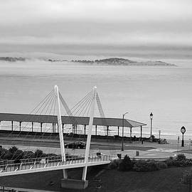 Dramatic Fog Over Nahant From Revere Beach Revere Ma by Toby McGuire