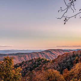 Dramatic Sunrise on Blue Ridge Parkway during the fall by Rod Gimenez