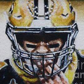 Drew Brees #9, study no3 by Misha Ambrosia
