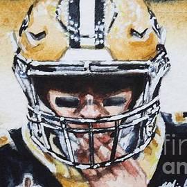 Drew Brees #9, study no1 by Misha Ambrosia