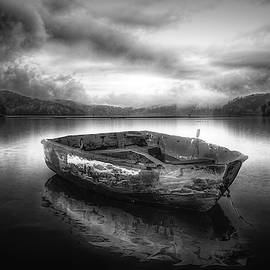 Drifting on a Misty Morning in Radiant Black and White by Debra and Dave Vanderlaan